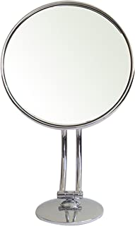 Rucci 7X Magnification Chrome Curvy Stand Mirror