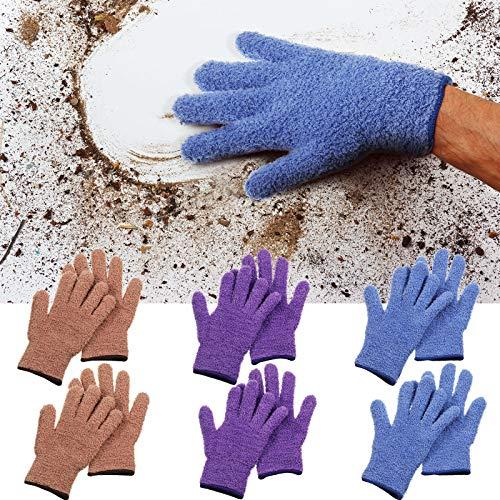 6 Paare Mikrofaser Abstauben Reinigung Handschuhe Staubhandschuhe für Küchen Haus Reinigung Autos LKW Spiegel Lampen Jalousien Staubreinigung