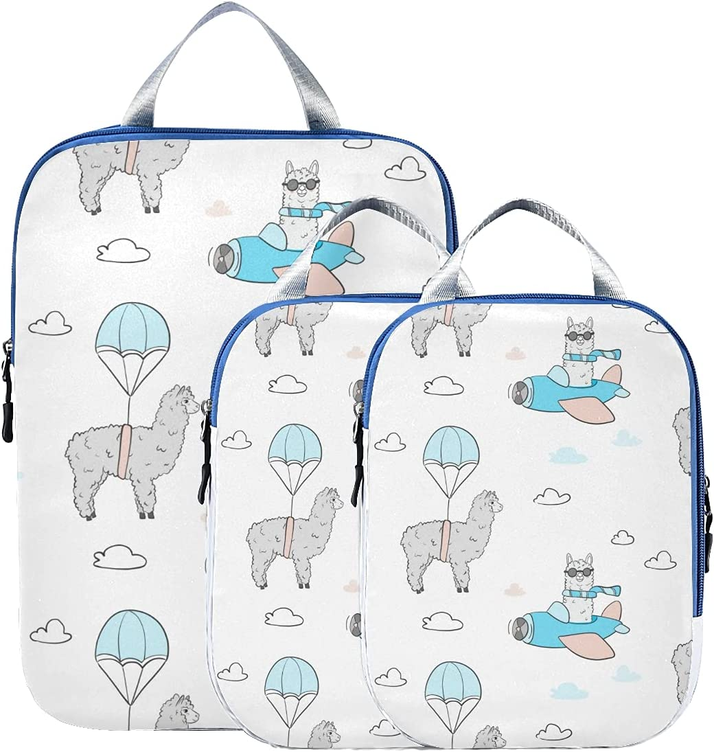 Complete Free Shipping Travel Organizer Cubes Different Cute Lama Organi Alpaca Cartoon Phoenix Mall