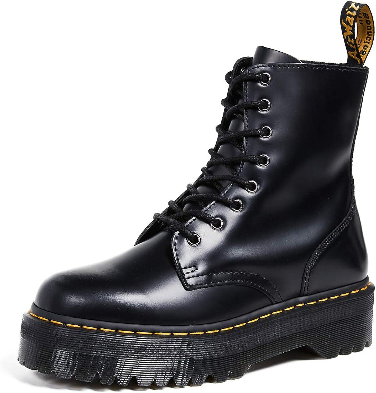 Dr.Martens Jadon Black Womens Leather Mid-calf 8-eye Boots