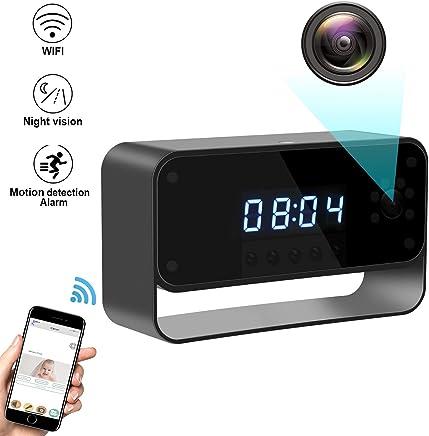 MUTANG Telecamera Nascosta Spia WiFi, HD1080 Sveglia Telecamera di Sicurezza Rilevazione Movimento Registrazione Visione Notturna, Fino a 64G Scheda di Memoria SD per Home Office - Trova i prezzi più bassi