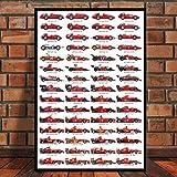 Formel 1 Rennwagen Weltmeister Fahrer Star Poster Wandkunst