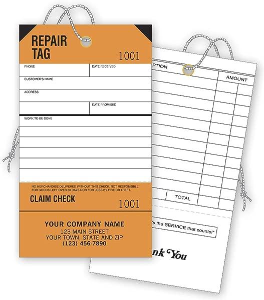 检查简单维修标签服务橙色可拆卸索赔检查定制数量 250