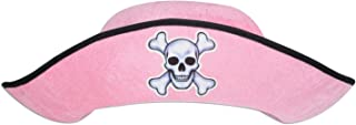 Beistle Felt Pirate Adult Hats 12 Piece, One Size, Pink/Black/White