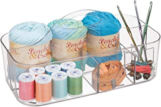 mDesign Porte-stylo blanc pour les accessoires de bureau - Excellente alternative pour boîte à couture - Idéal pour pot à ...