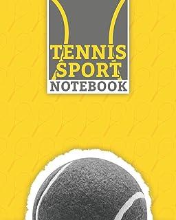 """Tennis Sport Notebook: Lined Racket Sport Notebook (8"""" x 10"""") 100 Pages Best Tennis Journal for Tennis Sport Supporter"""