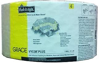 Grace 5003100 Vycor Plus Self-Adhered Flashing - 4 in. x 75 ft.