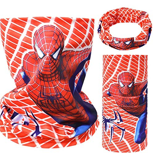 Tsyllyp Boys Girls Headwear Headband Bandana Neck Gaiter Super Heros Headwrap Balaclava Facecover Seamless for Kids Outdoor