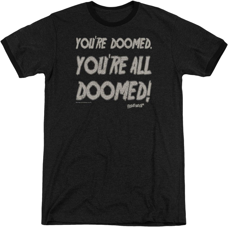 Friday The 13th  Mens Doomed Ringer TShirt