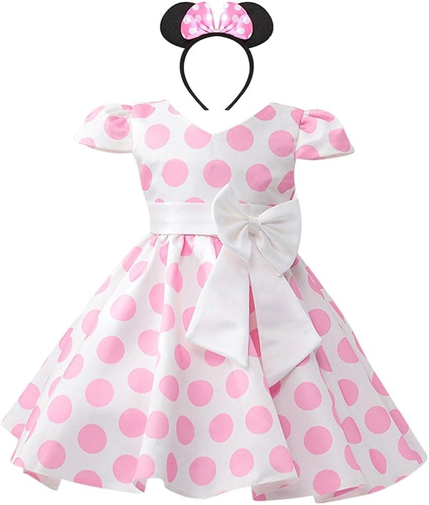 IBTOM CASTLE Girls Cap Sleeves Skirt Flower Polka Dress Dot Wedd Milwaukee Mall 100% quality warranty