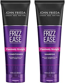 John Frieda Frizz-Ease Flawlessly Straight Shampoo and Conditioner Duo Set, 8.45 Ounce Each