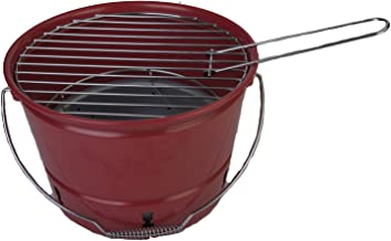 Coleman Bucket Grill Fold N Go Charoal Grill Chromed Plated
