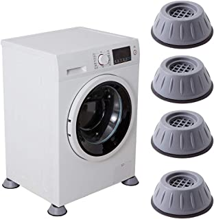 Shock and Noise Cancelling Washing Machine Support, Noise Reducing and Anti Slip Anti Vibration Rubber Washing Machine Fee...