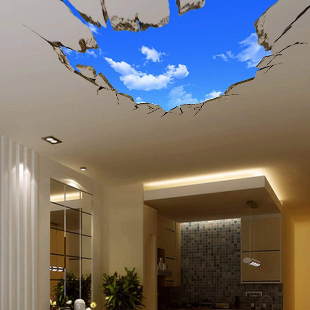 Buy Generic 20D Blue Sky Clouds Ceiling Wall Stickers Home DIY Art ...