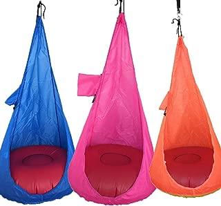 Butiline Children Hammock Chair Kids Swing Pod Home Outdoor Indoor Hanging Seat