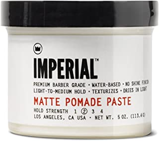 Imperial Barber Grade Products Matte Pomade Paste, 5 oz