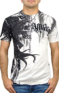 Affliction Indian Chief Short Sleeve T-Shirt S White