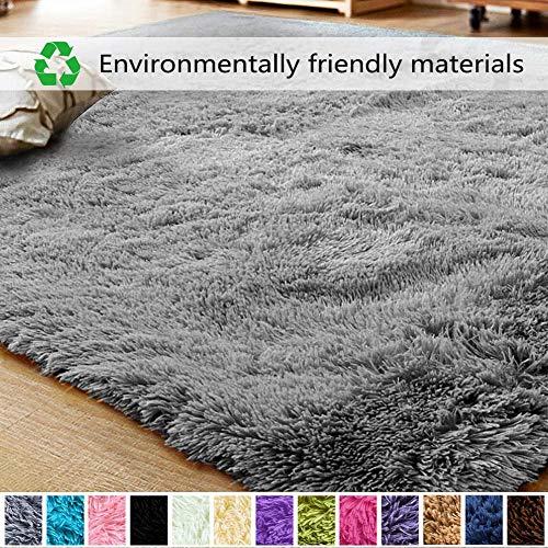Muutos Shaggy alfombras 50x70cm, Play Mat Acogedor, Sheepskin Rug Cordero Adecuado para salón Dormitorio baño sofá Silla cojín - Gris