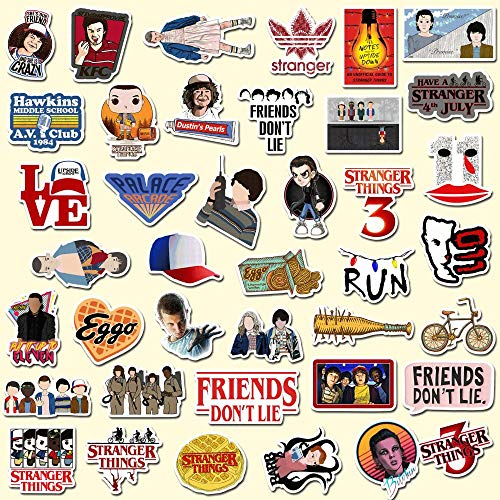 50PCS New Stranger Thing Stickers Set Anime Toy Decal for Luggage Skateboard Motorcycle Laptop Waterproof Sticker Children s Toy