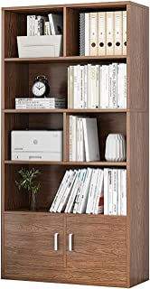 HFZY Bibliothèque simple autonome à poser au sol, meuble de rangement avec porte pour bureau, cuisine, balcon
