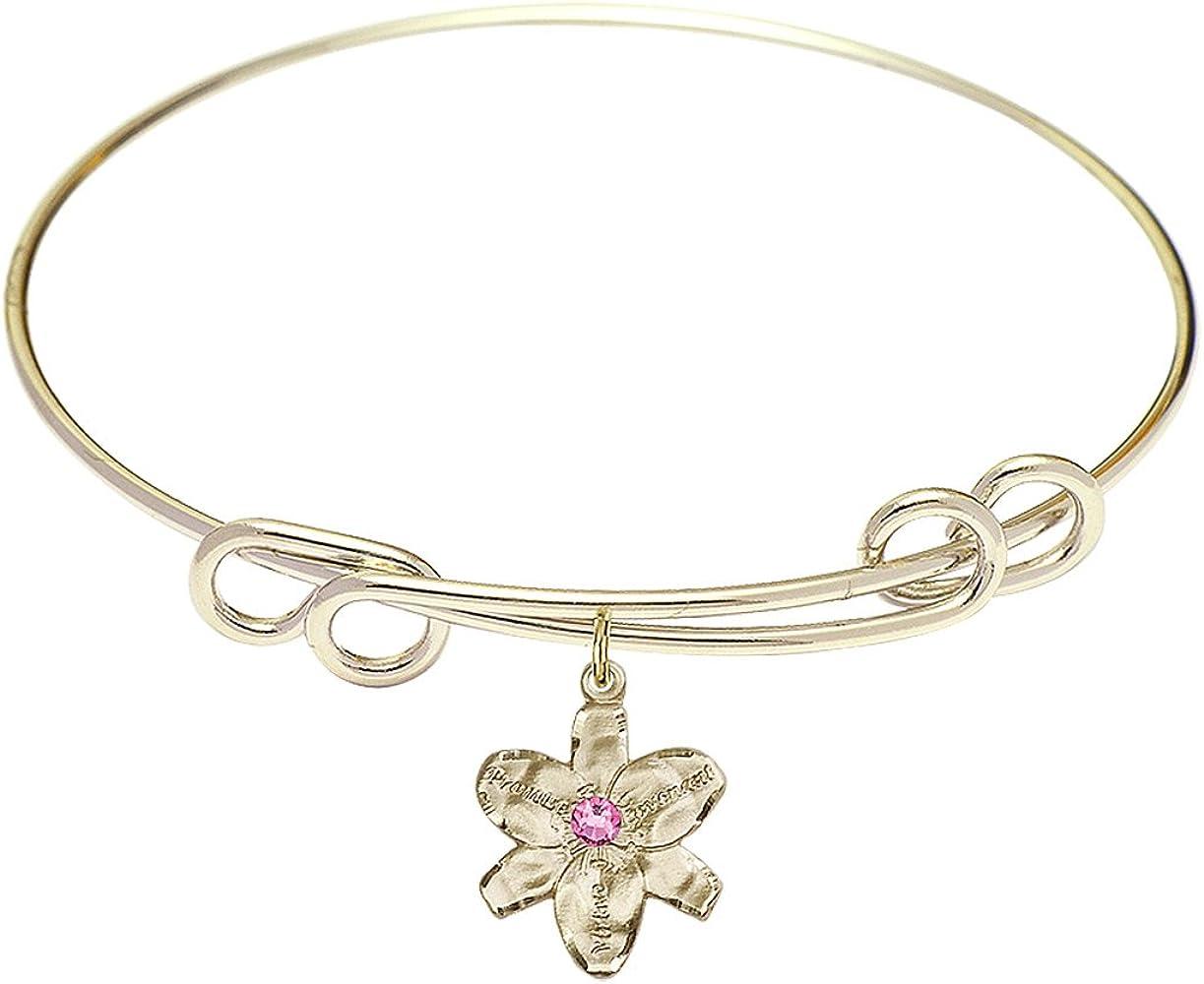 DiamondJewelryNY Double Loop Bangle Bracelet Same day shipping free a Cha with Chastity