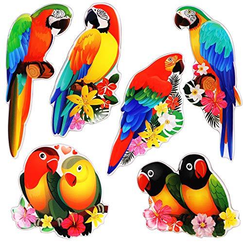 Papagei-Magnete für Kühlschrank, dekorative Kühlschrankmagnete, Spindmagnete für Büroschränke, Whiteboards, Klassenzimmer