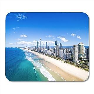 Alfombrilla de ratón Semtomn Vista aérea azul de Surfers Paradise Gold Coast Australia Alfombrilla de ratón para portátiles, computadoras de escritorio Alfombrillas de ratón, suministros de oficina