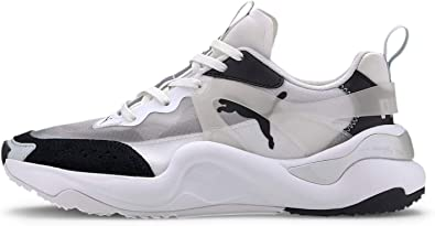 PUMA Womens Rise Sneakers Shoes Casual - Black,Grey,White