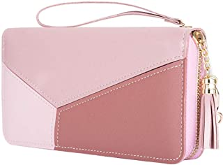 PALAY® Women's Long Wallet Tassel PU Leather Multi- Slots Girls Zipper Coin Large Purse