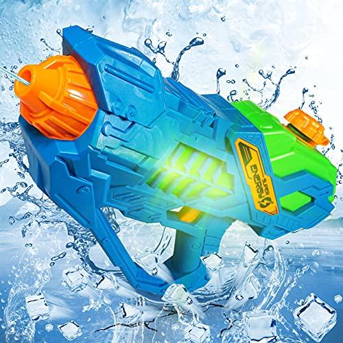 Pistola De Agua EléCtrica,Pistola Juguete PláStico, SúPer Pistolas con Capacidad 350ml, Chorro...