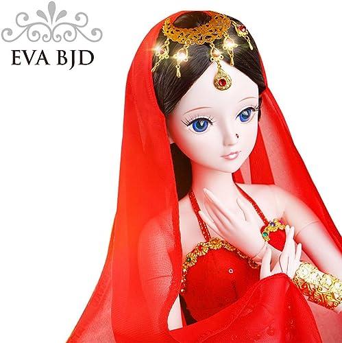 Indien mädchen 1 3 BJD Puppe SD Puppen Full Set 22 Zoll 56 cm 19 verbunden Puppen Indian Dancer Beauty Spielzeug Figur Geschenk