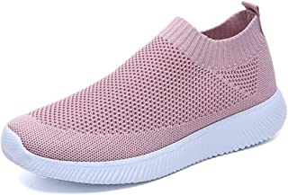 ZOZOE Women Ultra Flex Sneaker Knitted Elastic Casual Walking Shoes Women's Sneakers Lightweight Breathable Mesh Athletic Running Non Slip Sports Work
