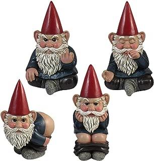 DWK Naughty Resin Gnomes - Crude Gestures Pooping Smoking Mooning & Flipping Off