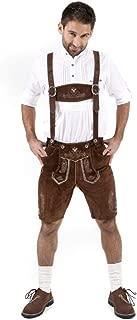 Authentic Lederhosen German Bavarian Lederhosen Oktoberfest Choc Brown Short Length