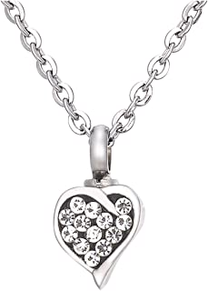 Haisiluo Colgante de acero inoxidable con forma de coraz/ón para hacer joyas A#Heart 2 piezas, 29 x 29 mm