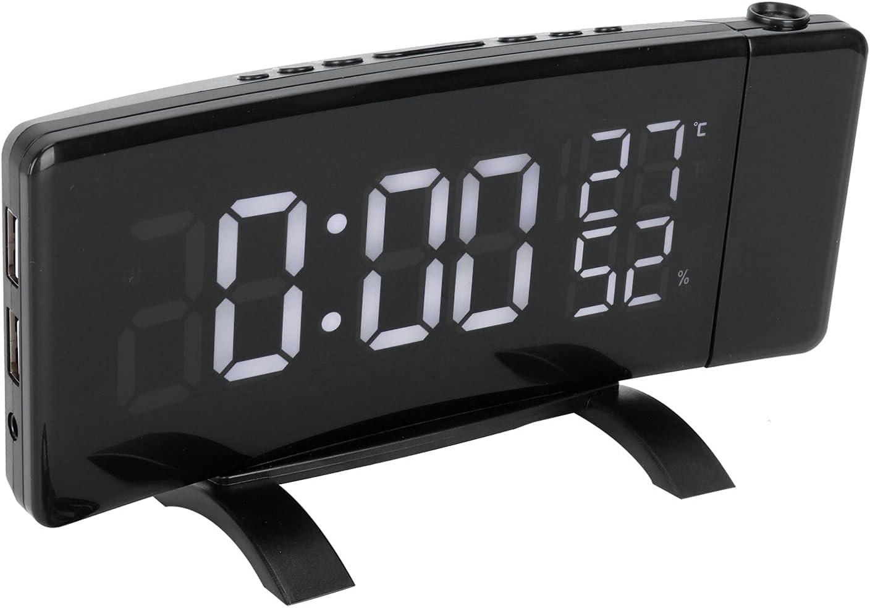 Haowecib Temperature Humidity Clock Time San Francisco Mall sale Charging Projection USB Ala