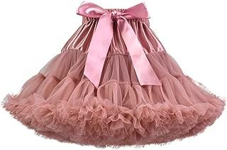 Baby Girl's Fluffy Tutu Skirt Toddler Tulle Birthday Party Tiered Princess Tutu Pettiskirt