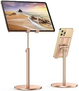 Wisfor Smart Phone Desk Stand, Foldable Mobile Phone Stand Holder Phone Stand Desk Mount Holder with Aluminum Base for Pho...
