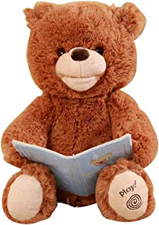 Music Plush Bear, Children Brown Bear Toy, Baby Music Bears, Singing Sleeping Doll, Cute Soft Plush Stuffed Animals, Electric Toys Baby Cuddle Doll for Kids Children