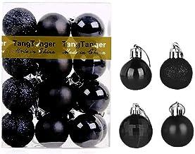 TangTanger Christmas Ball Assorted Pendant Shatterproof Ball Ornament Set Seasonal Holiday Wedding Party Decorations(24 pc...