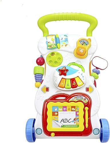 mejor opcion BGROESTHE Andador Bebé Sentado Postura Aprender Aprender Aprender Caminante Carrito Bebé Educación temprana Miembro Ejercicio Empujador Manual (Color   blanco, tamaño   42  34  45CM)  punto de venta en línea