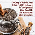 Garden of Life Vegetarian Omega 3 6 9 Supplement - Raw CoQ10 Chia Seed Oil Whole Food Nutrition with Antioxidant Support, 60 Count #2