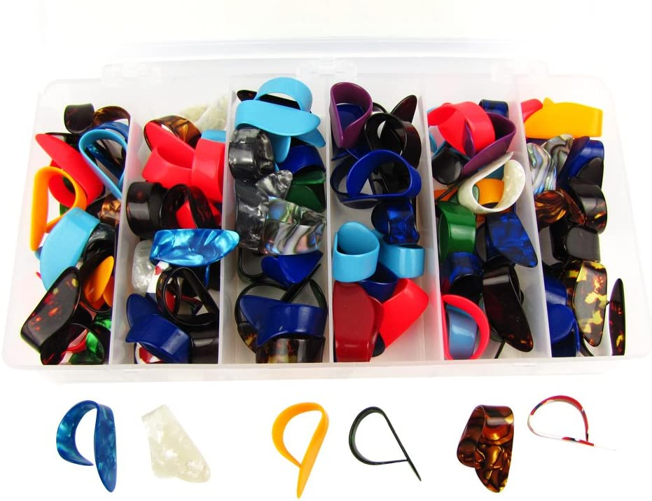 Alice 100pcs box Celluloid Thumb Color Fort Worth Mall Mixed Picks supreme Guitar
