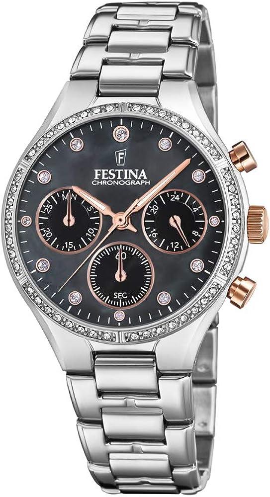 Festina orologio cronografo da donna in acciaio inossidabile F20401/4