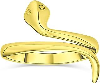 Minimalista Delicato Midi Knuckle Sottile 1MM Banda Impilabile Bypass Avvolgere Serpente Serpente Anello per Adolescente 1...