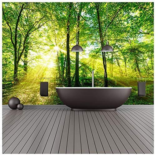 azutura Grüne Bäume Fototapete Wald Natur Tapete Wohnzimmer Schlafzimmer Dekor Erhältlich in 8 Größen XXX-Groß Digital