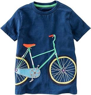 Aijoo ??子供服 男の子 トップスパンツ 丸首 半袖tシャツ ベビー服 赤ちゃん服 ボーイズ 夏服 可愛い 花柄 人気 紳士シャツ コットン