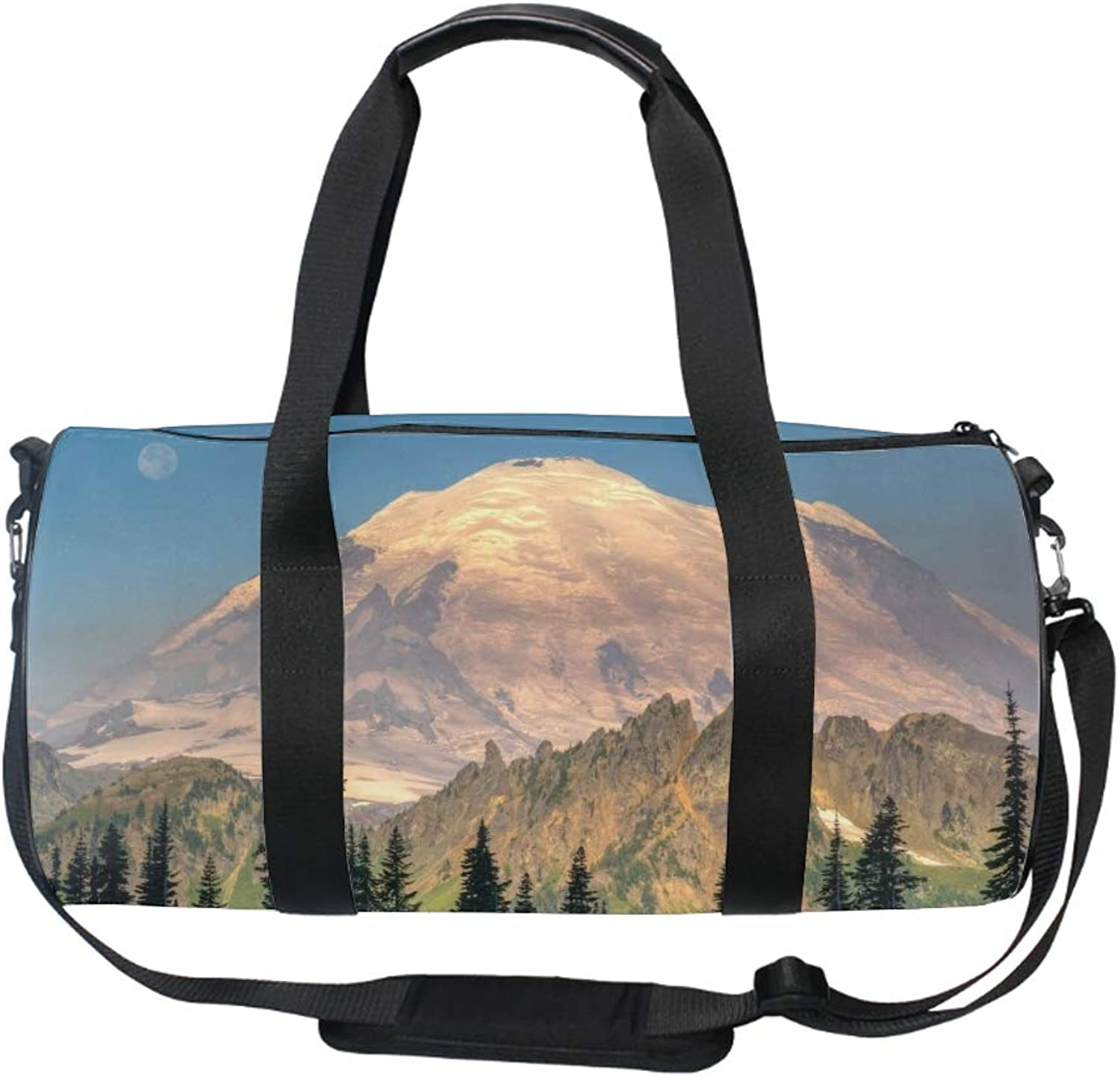 17  Blank Sports Duffle Bag Mountain Moon Tree Gym Bag Travel Duffel with Adjustable Strap