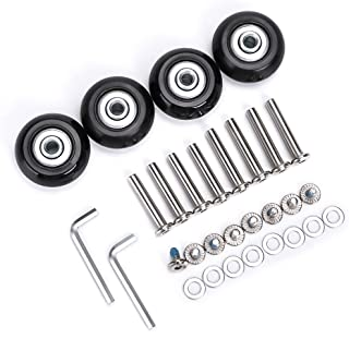 Luggage Suitcase Replacement Wheels, Rubber Swivel Caster Wheels Bearings Repair Kits