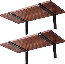 Plankbeugels 20 x 15 cm, zware industriële lip zwevende plankenbeugel 5 mm dikke wandgemonteerde metalen steun met voor do...